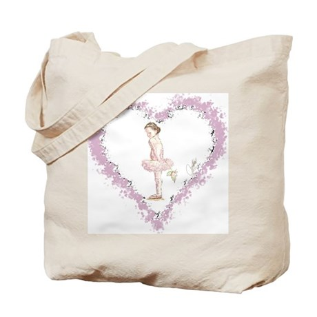 Little Ballerina with Rose Tote Bag