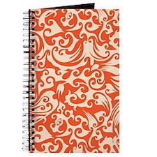 Tangerine & Linen Swirls Journal