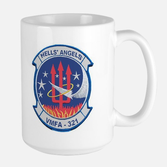 VMFA 321 Hells Angels Large Mug