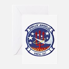 VMFA 321 Hells Angels Greeting Cards (Pk of 10)