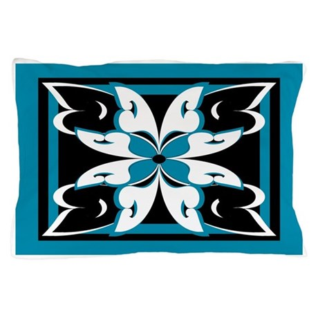 Abstract Butterfly Flower Pillow Case