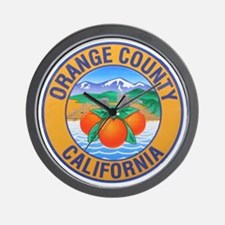 Orange County California Wall Clock