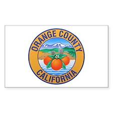 Orange County California Rectangle Decal