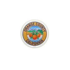 Orange County California Mini Button