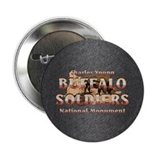 """ABH Buffalo Soldiers 2.25"""" Button"""