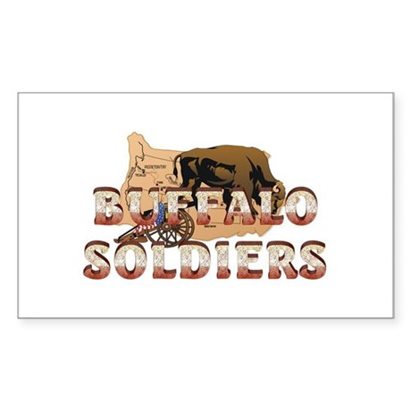 ABH Buffalo Soldiers Sticker (Rectangle)