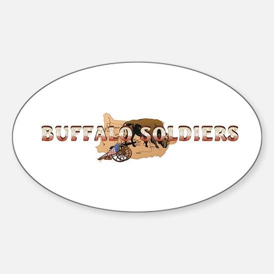 ABH Buffalo Soldiers Sticker (Oval)