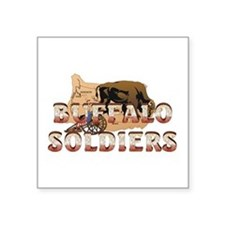 "ABH Buffalo Soldiers Square Sticker 3"" x 3"""
