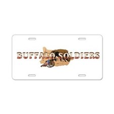 ABH Buffalo Soldiers Aluminum License Plate