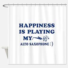Alto Saxophone Vector Designs Shower Curtain