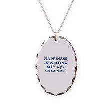 Alto Saxophone Vector Designs Necklace