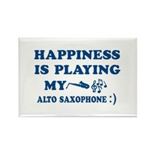 Alto Saxophone Vector Designs Rectangle Magnet