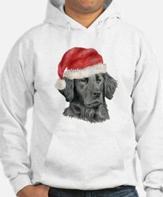 Christmas Flat-Coated Retriev Hoodie