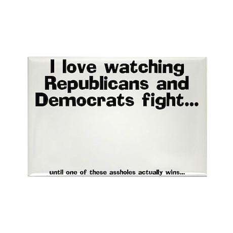 Republicans and Democrats Rectangle Magnet (100 pa