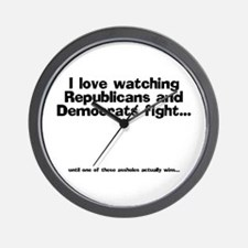 Republicans and Democrats Wall Clock