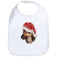 Christmas German Shepherd dog Bib