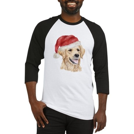 Christmas Golden Retriever Baseball Jersey