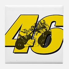 46ghostmini Tile Coaster