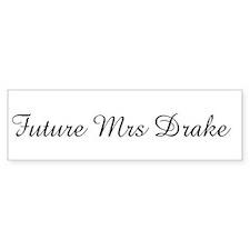 Future Mrs Drake Bumper Car Sticker