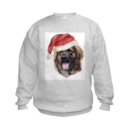 Christmas Leonberger Kids Sweatshirt
