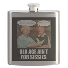 Old Age Ain't For Sissies Flask