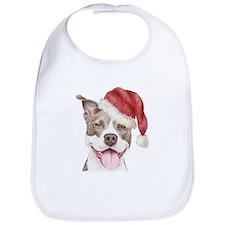 Christmas Pit Bull Terrier Bib