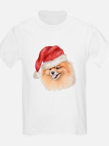 Christmas Pomeranian Kids T-Shirt