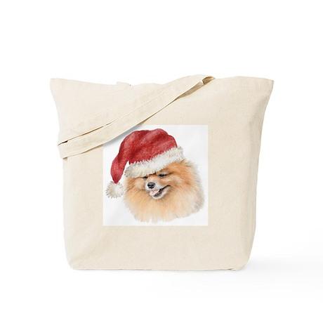 Christmas Pomeranian Tote Bag