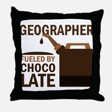 Geographer Fueled By Chocolate Throw Pillow