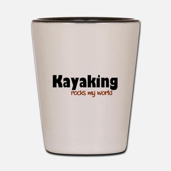 'Kayaking' Shot Glass