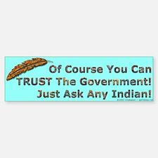 Government Trust Bumper Car Car Sticker