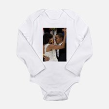 Barack and Michele Obama Long Sleeve Infant Bodysu