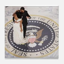 Barack and Michele Obama Tile Coaster