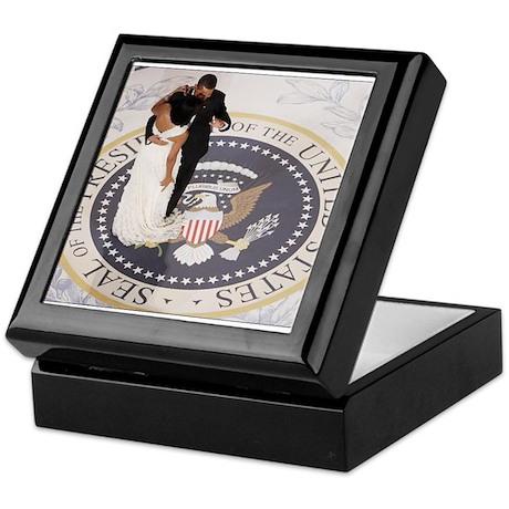 Barack and Michele Obama Keepsake Box