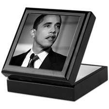 Obama Black and White Design Keepsake Box