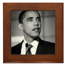 Obama Black and White Design Framed Tile