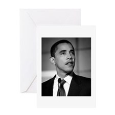 Obama Black and White Design Greeting Card