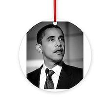 Obama Black and White Design Ornament (Round)