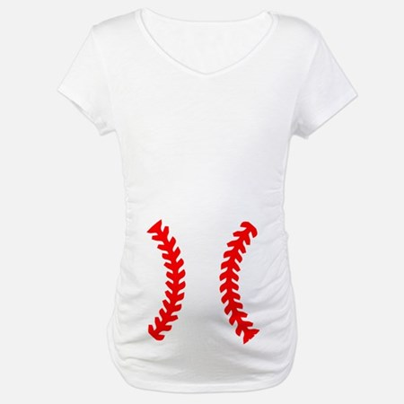 Halloween Baseball Maternity T-Shirt