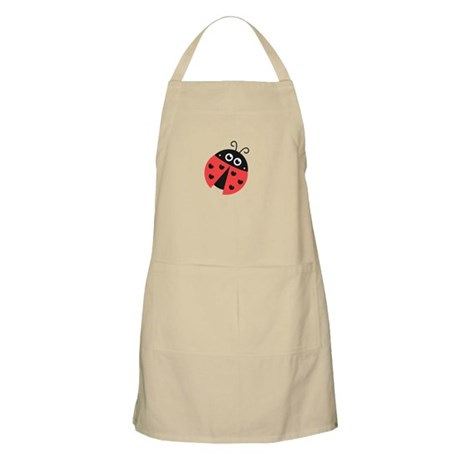 Cute Ladybug with Hearts as Spots Apron