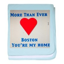Support our wonderful town, Boston baby blanket