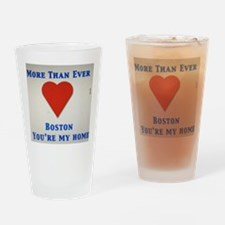 Support our wonderful town, Boston Drinking Glass