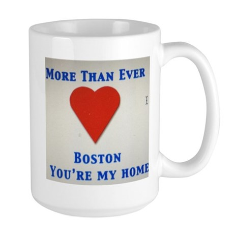 Support our wonderful town, Boston Large Mug