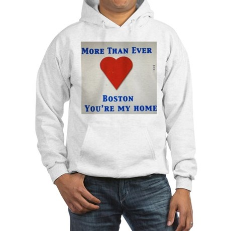 Support our wonderful town, Boston Hooded Sweatshi