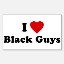 I Love [Heart] Black Guys Rectangle Decal