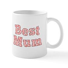 Best Mum Text in Pink Giraffe Prints Mug