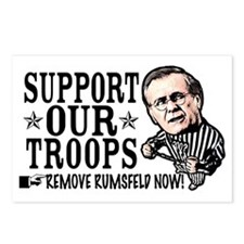 Remove Rumsfeld Support Our T Postcards (Package o