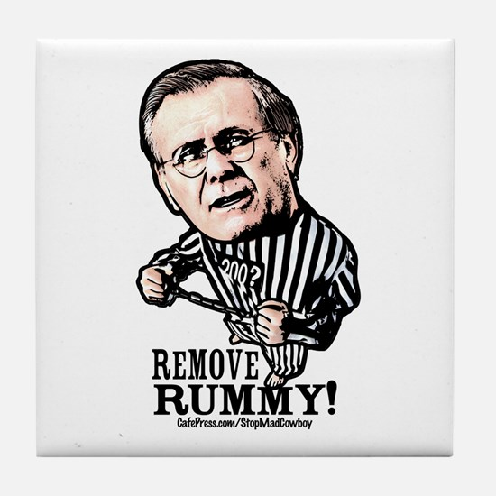 Remove Rumsfeld Support Our T Tile Coaster
