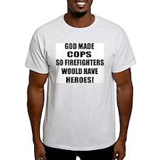 God Made Cops Ash Grey T-Shirt