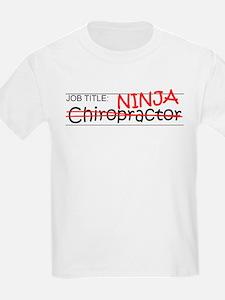 Job Ninja Chiropractor T-Shirt